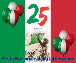 puzzel Bevrijdingsdag, de Italiaanse nationale feestdag gevierd op 25 april