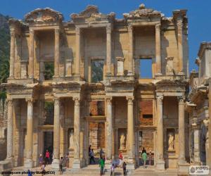 puzzel Bibliotheek van Celsus, Efeze, Turkije