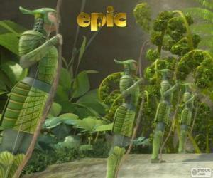 puzzel Blad-mannen, Epic