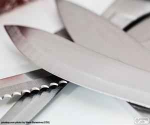 puzzel Bladeren voor keukenmessen