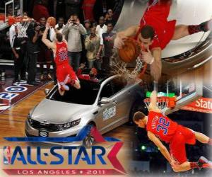 puzzel Blake Griffin is de nieuwe koning van de 2011 NBA Slam Dunk