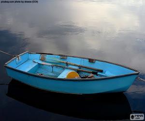 puzzel Blauwe boot