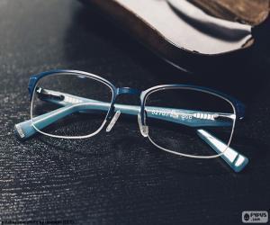 puzzel Blauwe bril