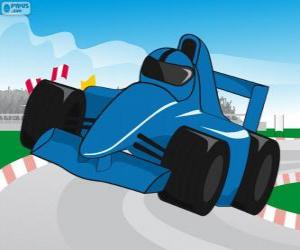 puzzel Blauwe F1 racewagen