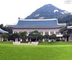 puzzel Blauwe Huis, Seoel, Zuid-Korea