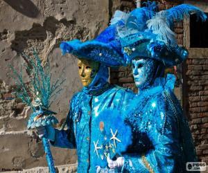 puzzel Blauwe kostuums
