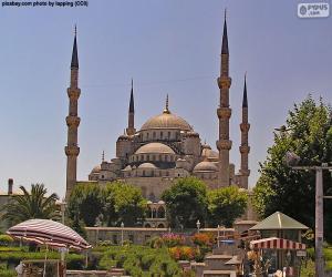 puzzel Blauwe moskee, Turkije