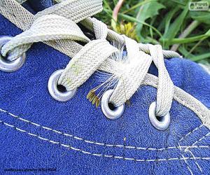 puzzel Blauwe schoen
