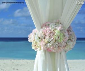 puzzel Bloemen decoratie huwelijksgordijnen