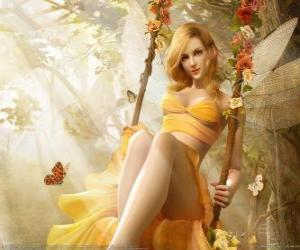 puzzel Blonde fairy