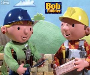 puzzel Bob de Bouwer en zijn partner Wendy organisatie van de werkzaamheden van de dag