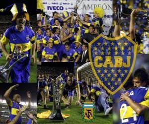 puzzel Boca Juniors, kampioen van de toernooi Apertura 2011, Argentinië