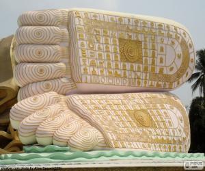 puzzel Boeddha voeten