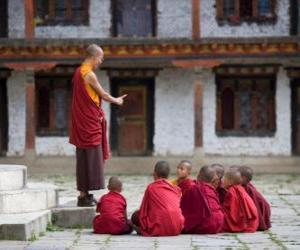 puzzel Boeddhistisch leraar
