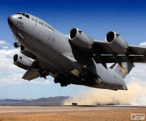 puzzel Boeing C 17 Globemaster III militaire transportvliegtuigen
