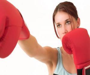 puzzel Boksen - gezicht van een bokser