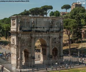 puzzel Boog van Constantijn, Rome