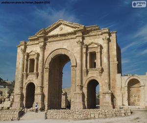 puzzel Boog van Hadrianus, Jordanië