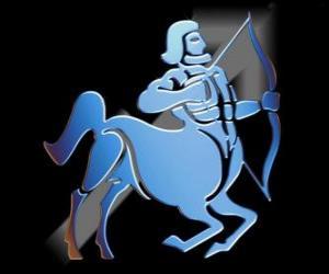 puzzel Boogschutter. De centaur, de boogschutter. Negende teken van de dierenriem. Latijnse naam is Sagittarius