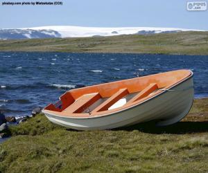 puzzel Boot op de Noorse kust