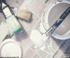puzzel Borstels en schilderen