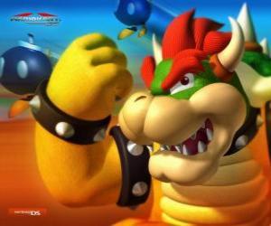 puzzel Bowser of King Koopa, de belangrijkste vijand in Mario spellen