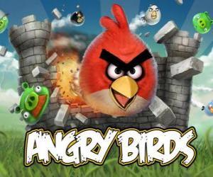 puzzel Boze Vogels Rovio is een video game. Boze vogels aanval van de varkens die stelen eieren
