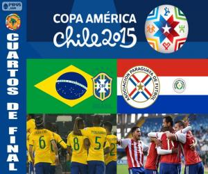 puzzel BRA - PAR, Copa America 2015