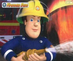 puzzel Brandweerman Sam met de slang