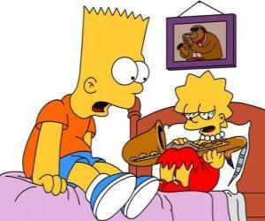 puzzel Brat verrast om te zien met Lisa een instrument