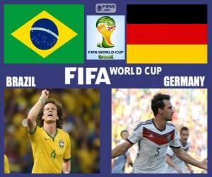 puzzel Brazilië - Duitsland, halve finales, Brazilië 2014