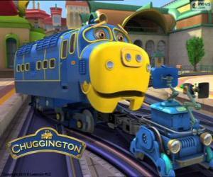 puzzel Brewster, een sterke diesel-elektrische locomotief van Chuggington