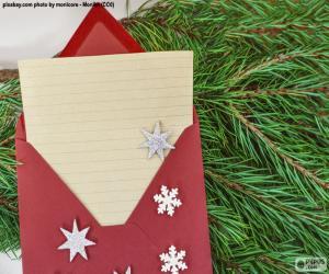 puzzel Brief aan de Kerstman