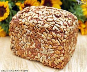 puzzel Brood van zonnebloempitten