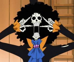 puzzel Brook, een muzikant skelet van One Piece