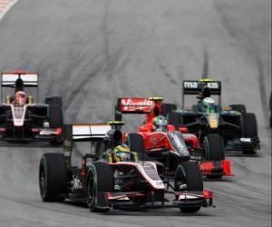 puzzel Bruno Senna - HST - Sepang 2010