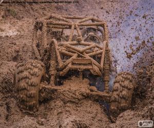 puzzel Buggy 4 x 4 in de modder