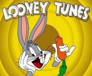 puzzel Bugs Bunny, het konijn held van de avonturen van Looney Tunes