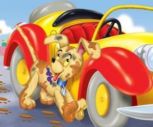 puzzel Bumpy Dog begeleidt Noddy op zijn avonturen