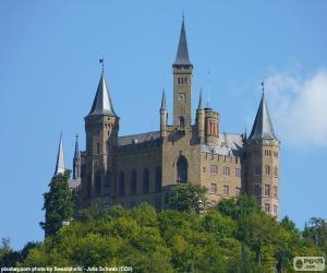 puzzel Burg Hohenzollern, Duitsland