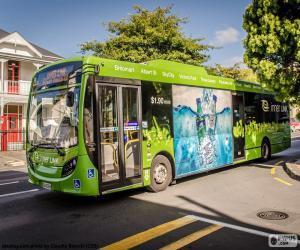 puzzel Bus vanuit Auckland, Nieuw-Zeeland