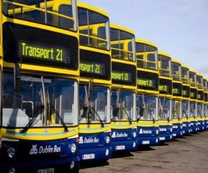 puzzel Bussen van Dublin in de parkeergarage