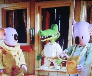 puzzel Buster en Frank met zijn vriend Archie de krokodil