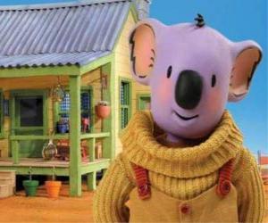 puzzel Buster is een van de koala broers wonen leuke avonturen in de Australische woestijn, The Koala Brothers