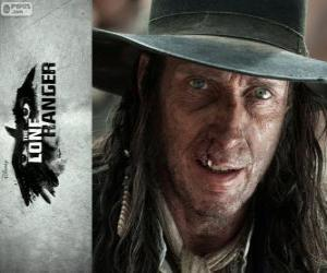 puzzel Butch Cavendish (William Fitchner) in de film Lone Ranger