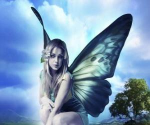 puzzel Butterfly Fairy