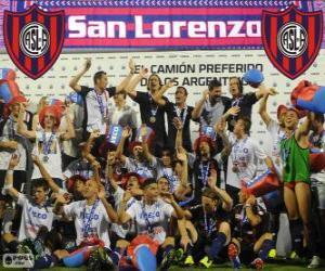 puzzel CA San Lorenzo de Almagro, kampioen van het Torneo Inicial 2013, Argentinië