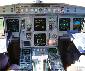 puzzel Cabine van het vliegtuig