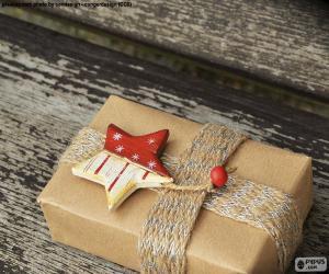 puzzel Cadeau versierd met een ster