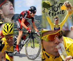puzzel Cadel Evans 2011 Tour de France Champion
